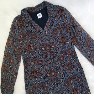 CAbi Blue Brown Boho Dress Style #3295